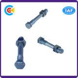 Acero de carbono de DIN/ANSI/BS/JIS/tuerca galvanizada 4.8/8.8/10.9 inoxidables del tornillo del hexágono para el ferrocarril del edificio