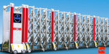 Porte de clôture en acier inoxydable / porte rétractable électrique