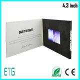 """Поздравительная открытка LCD горячего сбывания 4.3 """" видео-"""