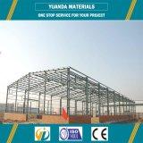Entrepôt professionnel de structure d'acier en forme de tuyau de grand dos d'usine