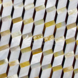 Shell de agua dulce y shell de la fregona del labio y azulejo de mosaico amarillos del Rhombus del shell de la pluma
