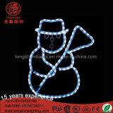 LED impermeável 2D boneco com corda de Decoração de Natal Estrela Motif luz para o jardim