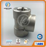 Тройник равного сварки гнезда давления ASME B16.11 выкованный нержавеющей сталью высокий выковал штуцеры (KT0552)