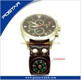 Orologio di sport del cronografo con la funzione della bussola della torcia elettrica