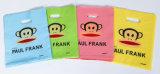 Firmenzeichen druckte Griff-kundenspezifische Fastfood- Plastikgriff-Einkaufstasche