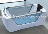 1800mm Freestanding Rectangle Massage Bathtub SPA met beide-ZijGlas (bij-LW0785)