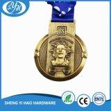 Medalla del recuerdo del brillo del chapado en oro