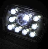 """"""" 7X6 """" het LEIDENE Licht van Koplampen H4 55W met DRL voor Jeep Wrangler Yj Xj GM Van Cherokee Ford"""