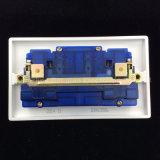 Zoccolo di rame dell'interruttore del doppio 13A della bachelite con neon (E8913SDL)