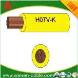 Fios elétricos de cobre flexíveis do fio H07V-K do edifício da isolação do PVC do condutor