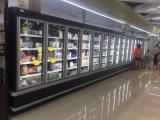 12FTの振動ガラスドアの大型スーパーマーケットのための直立した表示冷却装置