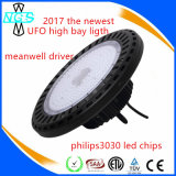 luz elevada do louro do diodo emissor de luz do UFO de 100W 150W 200W com o controlador do redutor de Dali