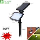 10W LED Solar Flood Light capteur de mouvement PIR