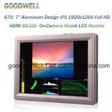 "7 "" Aluminiumkamera-Montierung LCD-Monitor entwurf IPS-1920X1200 3G-Sdi"