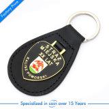 Anello chiave di vendita del nero dell'automobile superiore del cuoio/catena