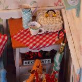Jouet en bois de Chambre de poupée d'horloge de la qualité DIY