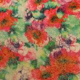 Moda flor PU couro para sacos sapatos (E6070)