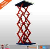 Buena calidad estacionario hidráulico de tijera de carga plataforma elevadora