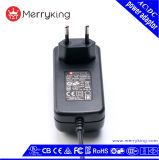 Geregelter Ausgabe EU-Stecker 6V 4.0A 4000mA Wechselstrom-Spannungs-Adapter