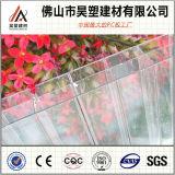 Feuille en plastique de PC de Triple-Mur de polycarbonate de feuille claire de cavité