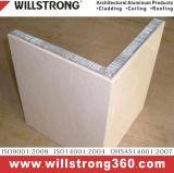 L'aluminium panneau alvéolé pour les systèmes de murs les ingénieurs de façade de la création de solutions
