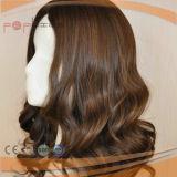 Qualtiy 최고 인간적인 Virgin Remy 처리되지 않은 곱슬 머리 실크 최고 여자 가발 (PPG-c-0090)