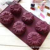 De Vorm van de Cake van het Silicone van het Voedsel van zes Zonnebloemen met 29.8*17.4*4cm