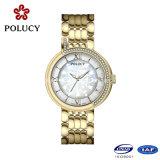 Zoll Ihre eigene Marken-Luxuxdamenfantastische Ronda-Bewegungs-Diamant-Uhr