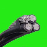 Cavo di alluminio di ABC del collegare del cavo 2/0AWG degli astaci di servizio del cavo ambientale Triplex di goccia