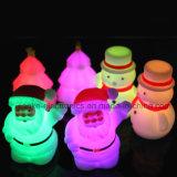 Lampada di notte del pupazzo di neve LED di natale con il marchio stampata (4027)