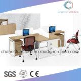 Sitio de trabajo de madera del vector de la oficina del escritorio del entrenamiento de los muebles populares