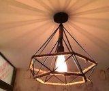 Hanf-Seil-u. Diamant-Form-moderne Kaffeestube-dekorative Pendent Lampe