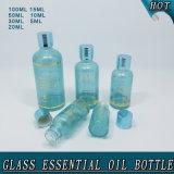 Botella de aceite esencial de cristal pequeña de encargo del color