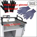 Máquina anti del guante del trabajo del guante del resbalón con la máquina adhesiva del dispensador del pegamento caliente del derretimiento
