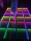 최신 판매 LED 3D 비전 무한한 댄스 플로워 미러 효력