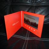 7 pouces de la publicité numérique HD OEM Business Invitation Carte vidéo/carte vidéo/vidéo de promotion de la carte de mariage