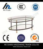 Tavolino da salotto di scortecciamento Hzct119 la nuova struttura di superficie di vetro del metallo
