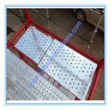 El Ce pasó el andamio pintado de Cuplock para la construcción