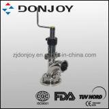 Type sanitaire de bride de modèle de Dn25 316L 3A soupape de bas de réservoir pour la laiterie