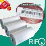 BOPP синтетические этикетки теги материала для гибких УФ вращающийся Версия для печати