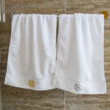 Katoenen van Douane de Zachte Duidelijke White100% van de goede Kwaliteit Badhanddoeken van het Hotel