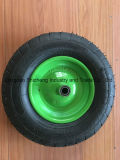 3.50-4 مطّاطة [هند تروك] عجلة إطار العجلة مع فولاذ حالة, عربة يد إطار