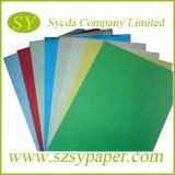 Papel compensado colorido blanco de Woodfree para la impresión