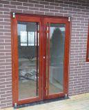 De houten Deur die van Kfc van het Aluminium van de Kleur van de Oppervlakte naar buiten opent
