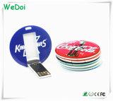 Mini-card impermeável Memory Stick USB com o logotipo colorido (WY-C14)