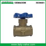 Com certificação ISO9001 válvula globo de latão (AV4004)