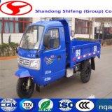 Travando tipo balde de Saneamento Ambiental Tipo Canhão Vehanging Recusar Veículo/transportes/Carregar/Efectuar por 500kg -3toneladas três Wheeler Carbage Reboque