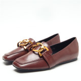 Nuevo diseño de la plana de metal de la cadena de zapatos de dama