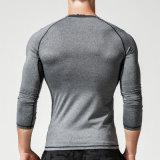 Levering voor doorverkoop van de Fabrikant van de T-shirts van de Koker van de Fitness van de Sport van mensen de Sneldrogende Lange