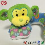 Hoofdkussen van de Hals van de Baby van het Gezicht van de aap het Glimlach Geborduurde Leuke Zachte